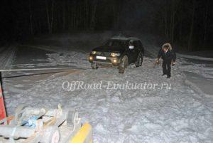Машина застряла в снегу эвакуатор Москва